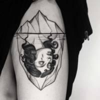 iceberg black and white tattoo milano