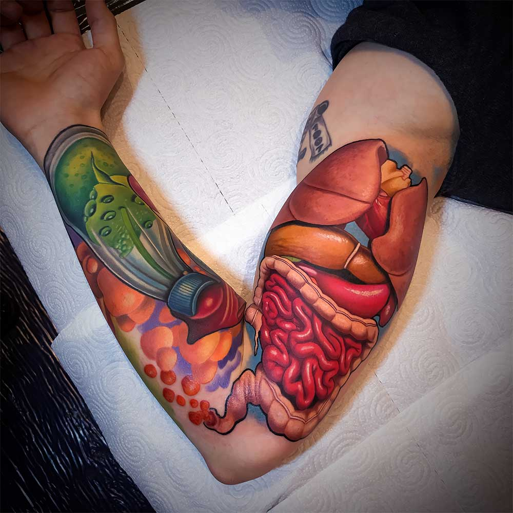 colorfull tattoo Hive Milano