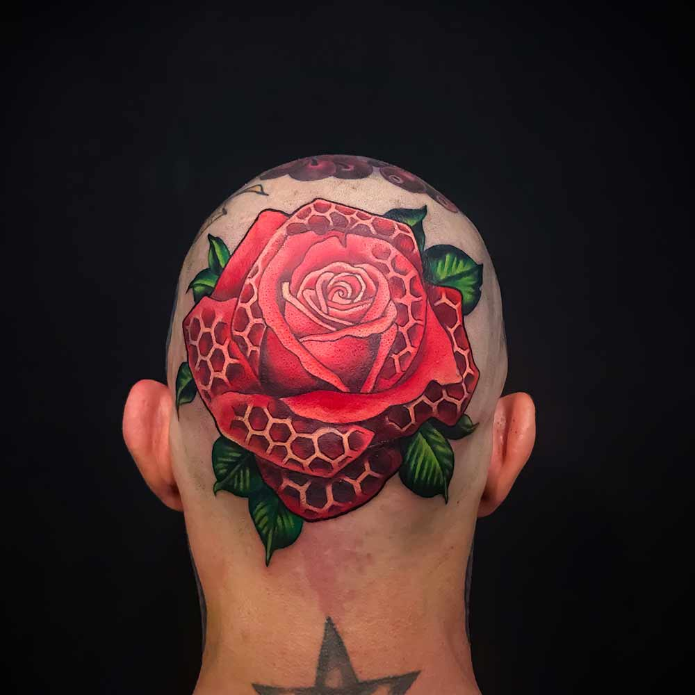 rose tattoo Hive art gallery