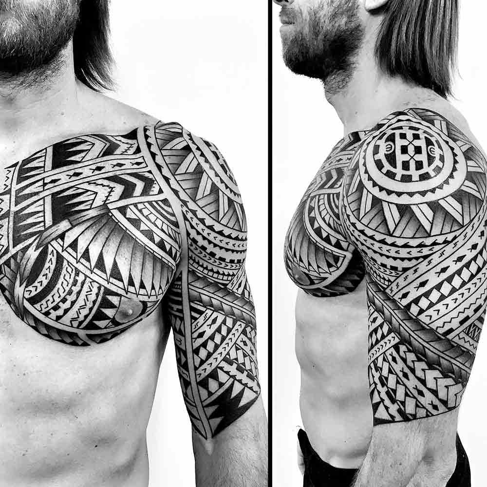 maori tattoo spalla milano Hive