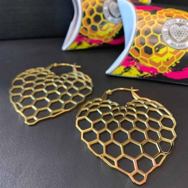 orecchini oro Hive Milano