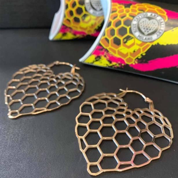 orecchini rosa Hive Milano