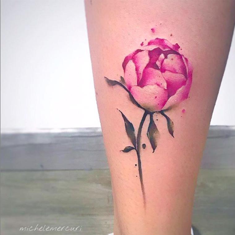Tatuaggio watercolor milano
